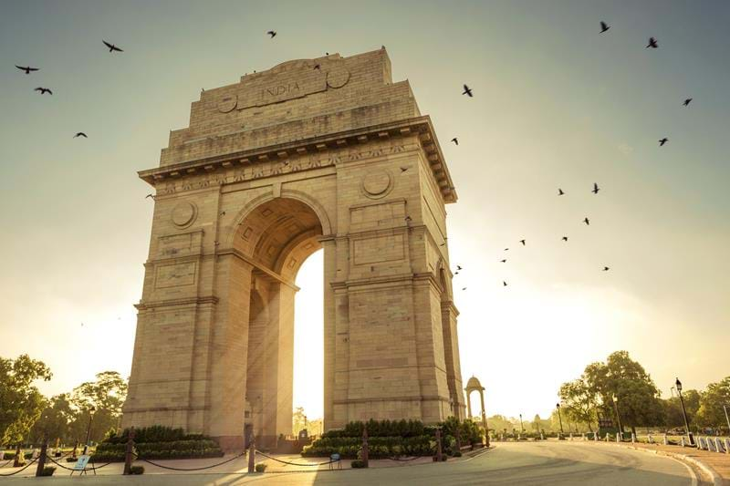 The India Gate in Delhi during a dry spell