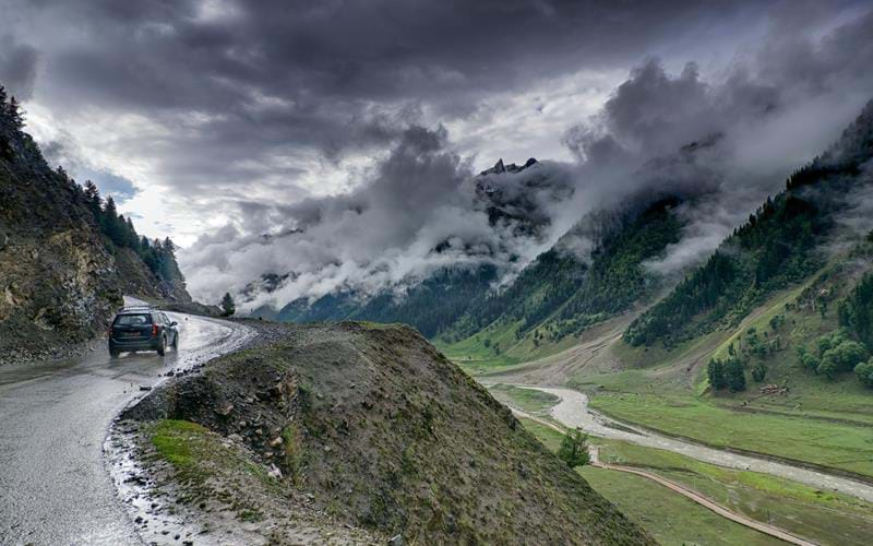 The spectacular landscapes of Ladakh shrouded in monsoon cloud