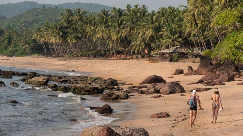 The beaches of Goa and Kerala