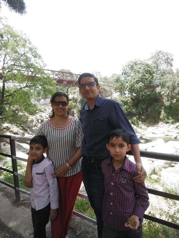 Dr Amit Sharma and family